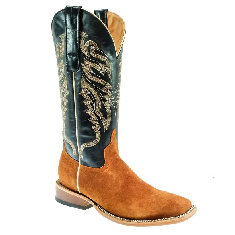 Stt Navy Roughout Cognac Men's Boots