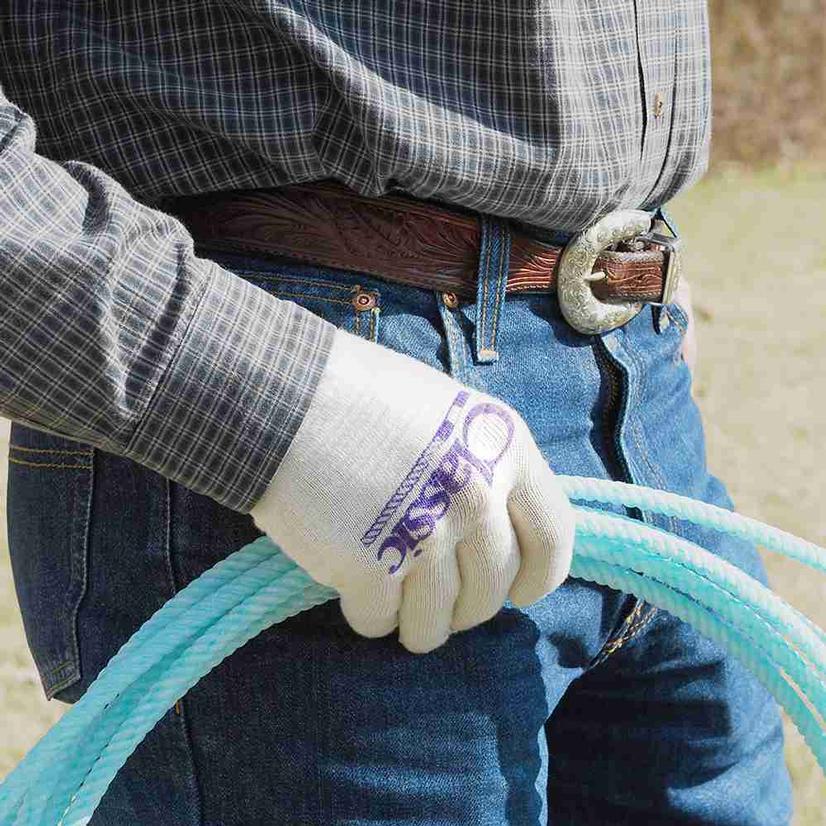 Classic Cotton Roping Glove - Single