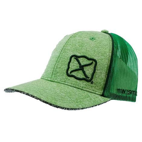 Twisted X Heathered Green Meshback Cap