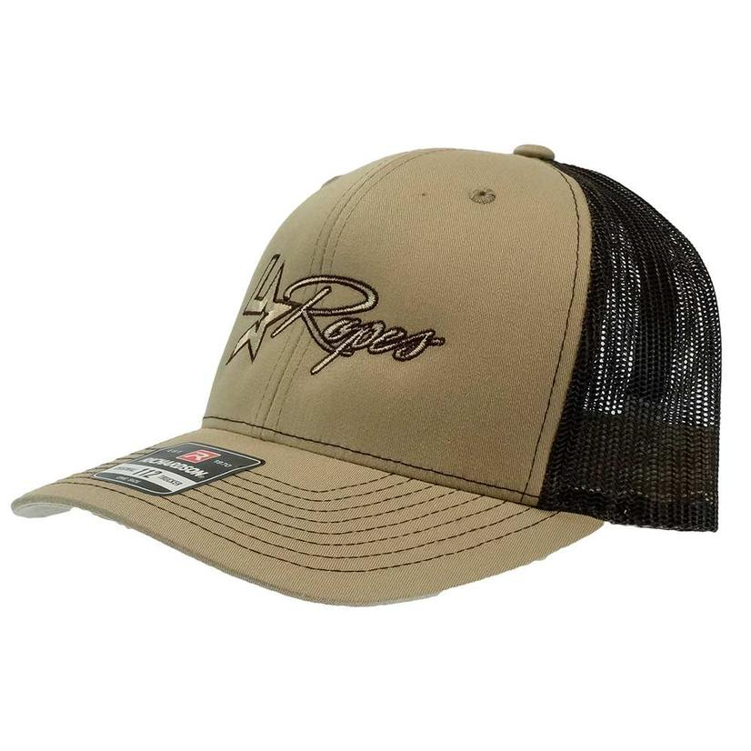 Lone Star Ropes Tan And Black Meshback Cap