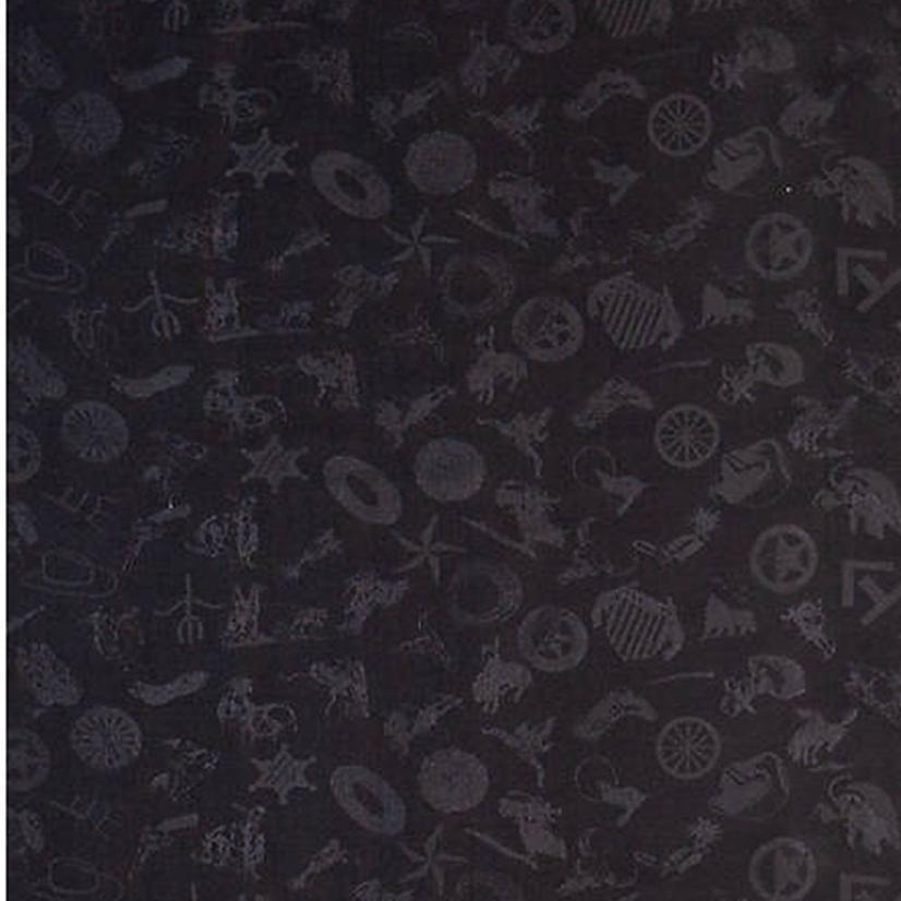 Cowboy Logo Silk Wild Rag - Assorted Colors BLACK