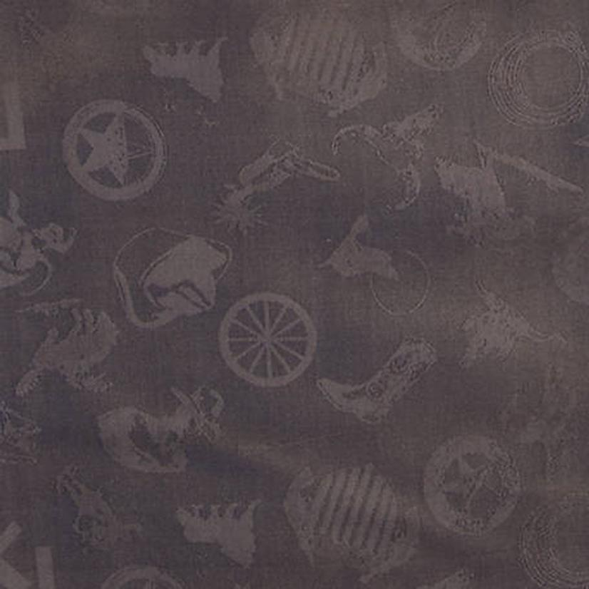 Cowboy Logo Silk Wild Rag - Assorted Colors CHARCOA