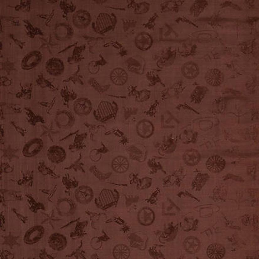 Cowboy Logo Silk Wild Rag - Assorted Colors CHOCOLATE