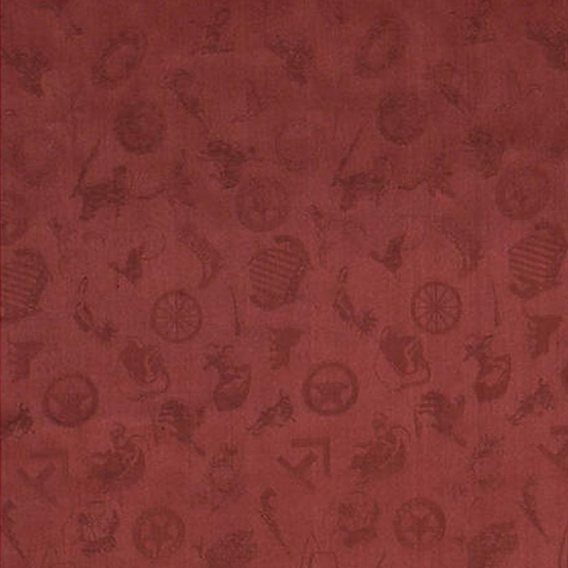 Cowboy Logo Silk Wild Rag - Assorted Colors CRANBERRY