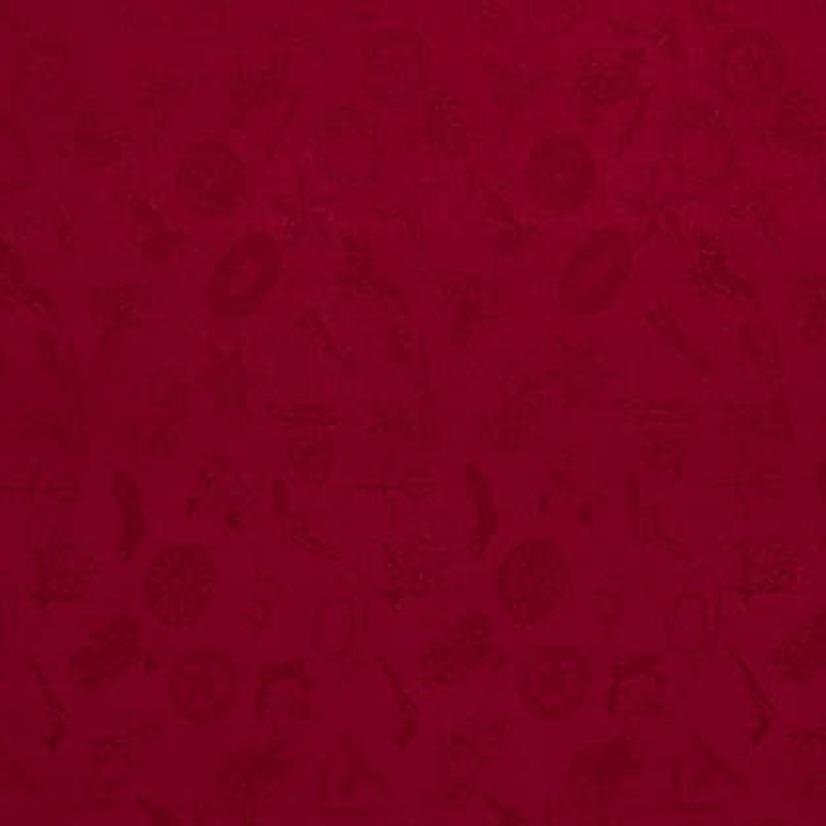 Cowboy Logo Silk Wild Rag - Assorted Colors RED