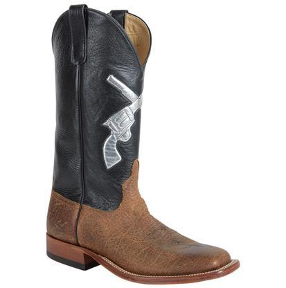 Anderson Bean Men's Black w/ Silver Cross Pistol Boots