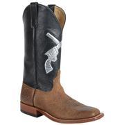 Anderson Bean Men's Black W/Silver Cross Pistol Boots
