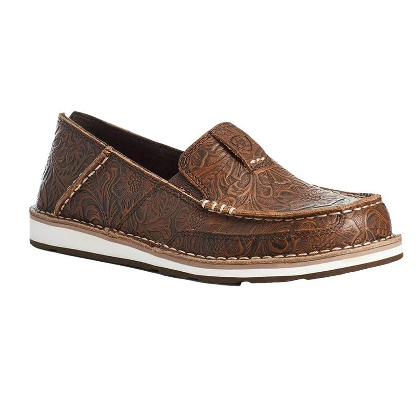 Ariat Brown Floral Tooled Women's Cruisers