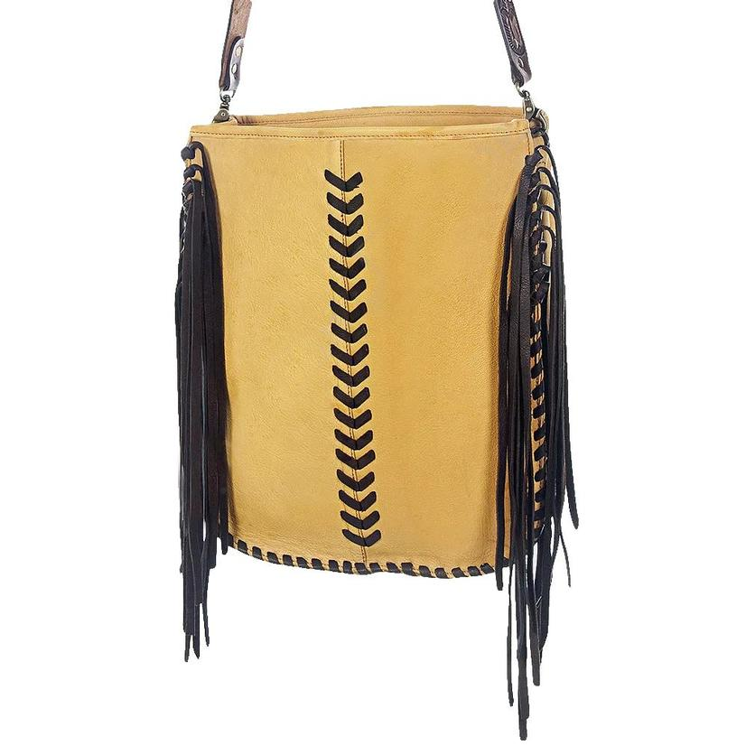 American Darling Hand Bag With Fringe And Buckstitch