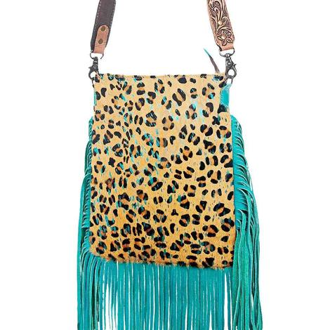 American Darling Cheetah with Turquoise Fringe