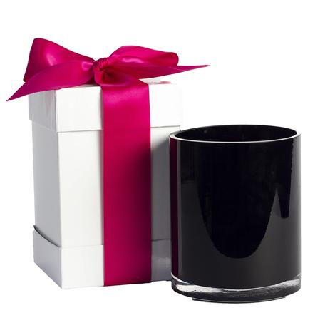 B's Knees Love Scented 2-wick Black Glass Candle