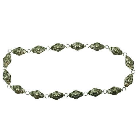 Silver Concho Belt Diamond Shape