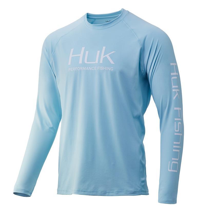 Huk Pursuit Vented Long Sleeve Ice Blue Men's Shirt