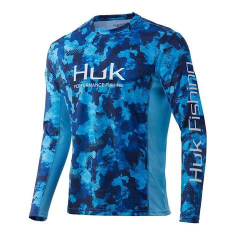 HUK Tie Dye Pursuit San Sal Long Sleeve Youth Fishing Shirt