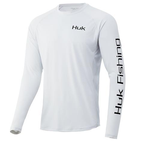 HUK Huk'd Up Flag Pursuit White Long Sleeve Men's Shirt