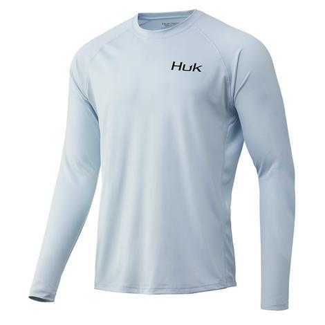 HUK Huk'd Up Pursuit Long Sleeve Plain Air Men's Shirt