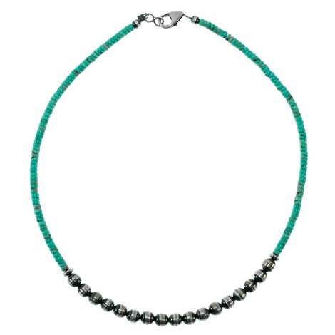 Turquoise and Navajo Pearl 18