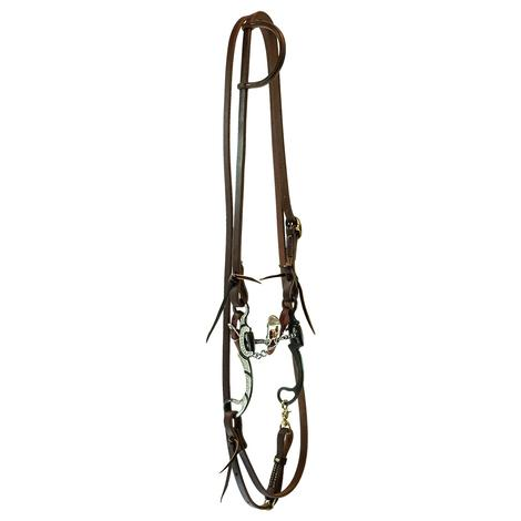 STT Roping Rein Bridle Set with Mounted Floating Spade Bit