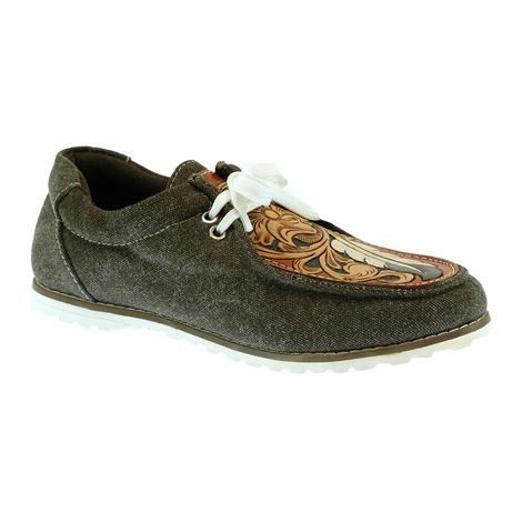 Amerian Darling Brown Tooled Women's Shoes
