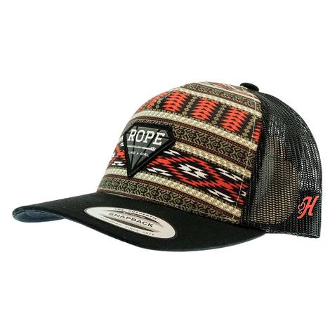 Hooey Rope Like a Girl Aztec Black Meshback Trucker Cap