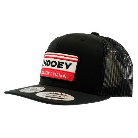 Hooey Horizon Black White Red Meshback Cap