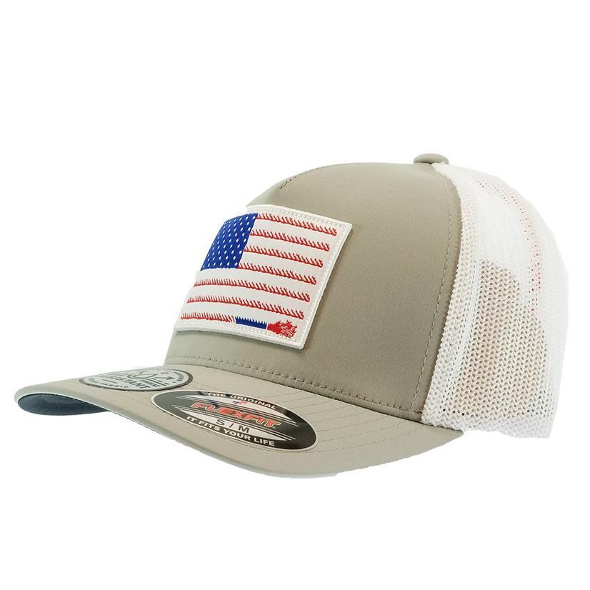 Hooey Liberty Roper Grey White Flexfit Meshback Cap