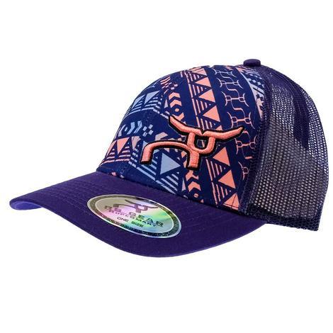 Ropesmart Purple Aztec Meshback Cap