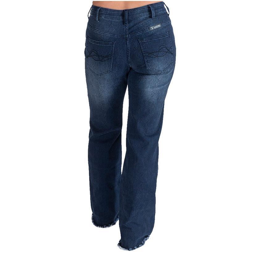 Cowgirl Tuff Midnight Python Wide Leg Women's Jeans