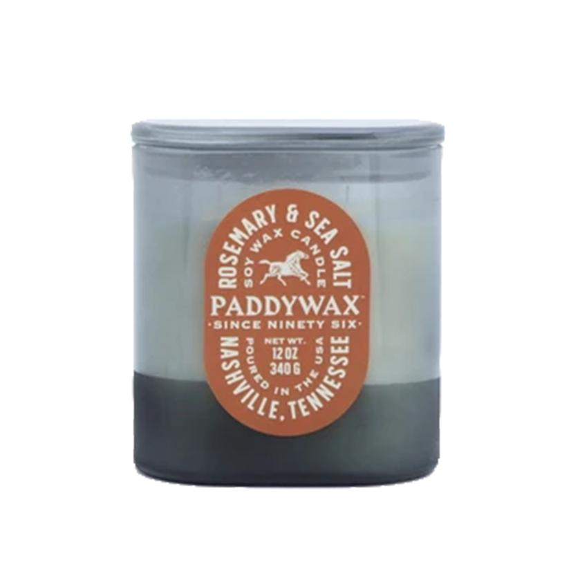 Paddywax Vista Rosemary And Sea Salt 12oz Soy Candle