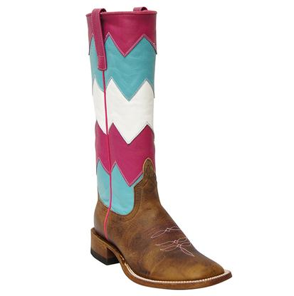 Macie Bean Women's Multi Colored Zig Zag Boots