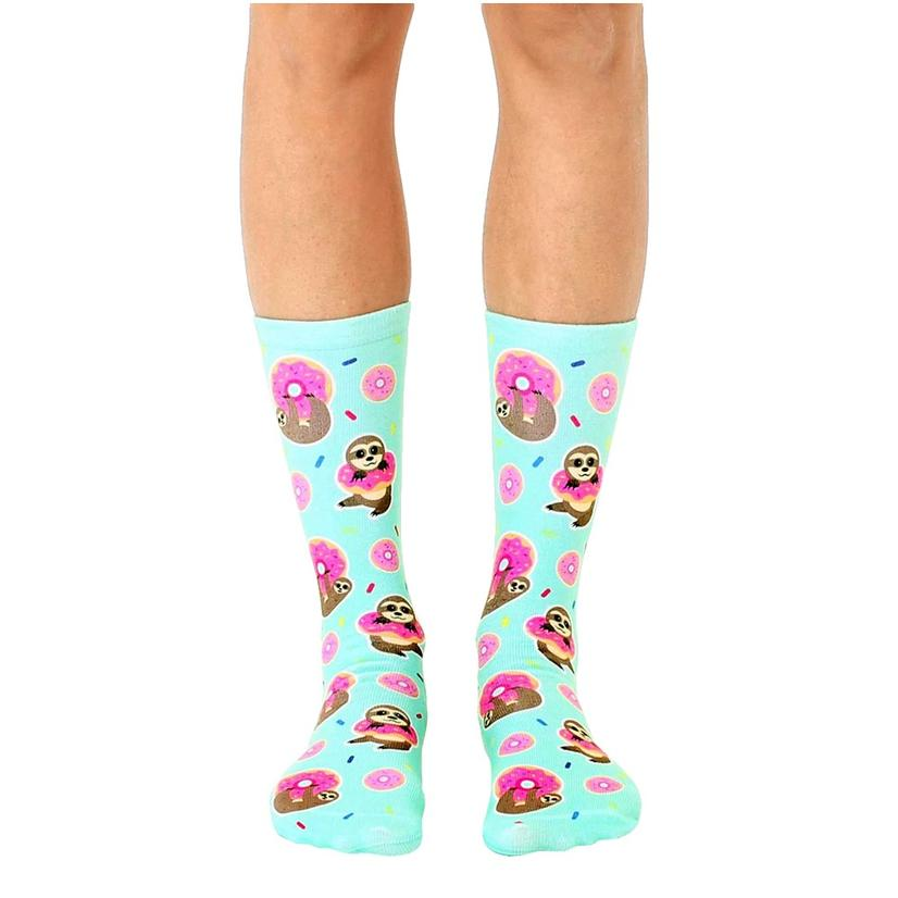 Sloth Donut Crew Socks By Living Royal