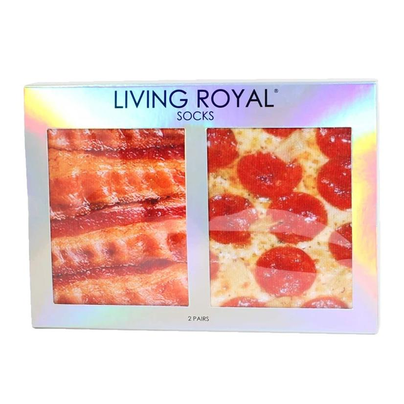 Pizza Knee High Socks By Living Royal