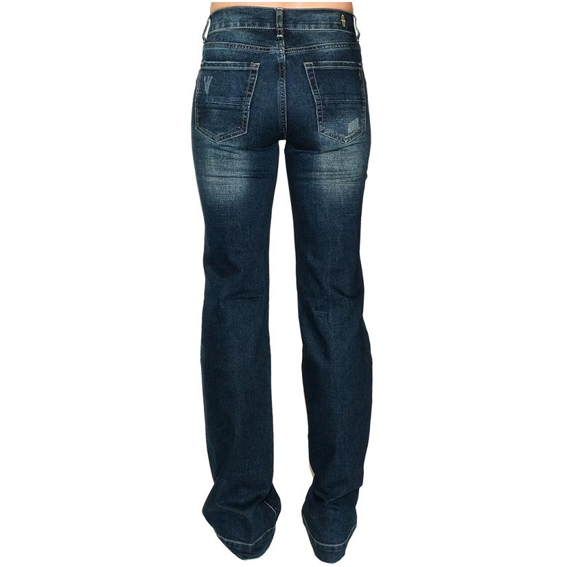 Stt Signature Mid- Rise Distressed Wash Women's Trouser Jeans