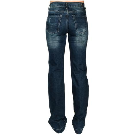 STT Signature Mid-Rise Distressed Wash Women's Trouser Jeans