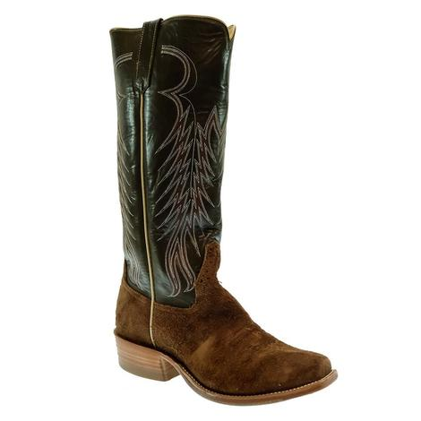 Rios of Mercedes Hickory Shoulder Rough Out with Olivesque Kidskin Top Men's Boots