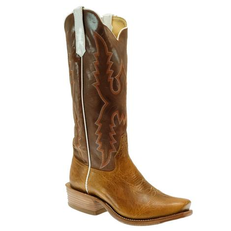 Rios of Mercedes Tan Navajo Bison with Chile Double Face Grain Men's Boots