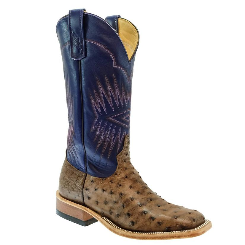 Anderson Bean Kango Tobac Bruciato Fq Ostrich With Violet Top Men's Boots