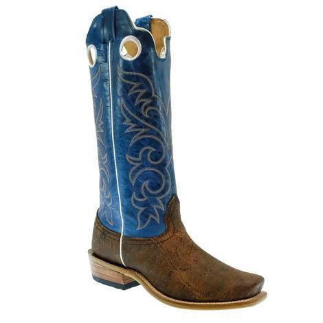 Fenoglio Rust Cape Buffalo with Sky Blue Men's Boot