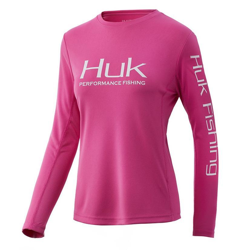 Huk Icon Rose Violet Long Sleeve Women's Shirt
