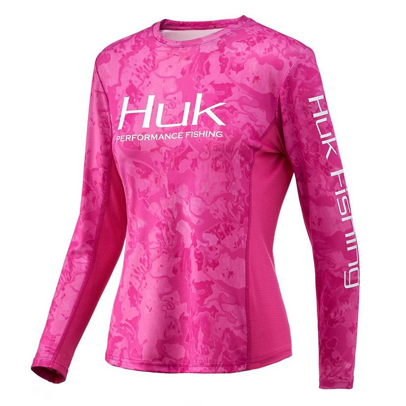 Huk Icon X Berry Island Camo Long Sleeve Women's Shirt
