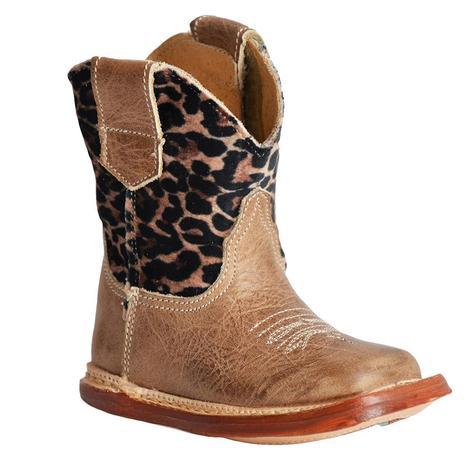 Roper Cheetah Cowbaby Toddler Boots