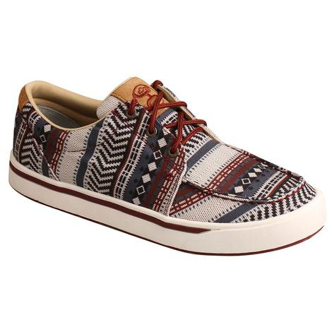Twisted X Aztec Print Hooey Men's Shoes