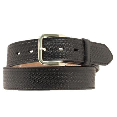 Nocona Black Basketweave Leather Men's Money Belt