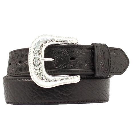 Nocona Black Leather Bullhide Men's Belt