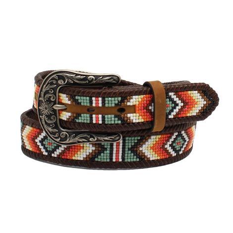 Nocona Beaded Leather Women's Belt