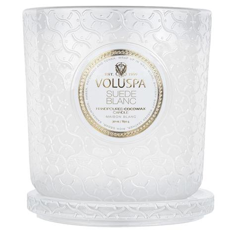 Voluspa Suede Blanc Luxe Candle 30oz