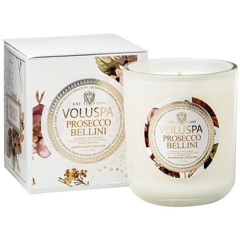 Voluspa Classic Maison Boxed Candle Prosecco Bellini White