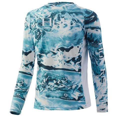 HUK Mossy Oak Elements Hydro Wahoo Youth Fishing Shirt