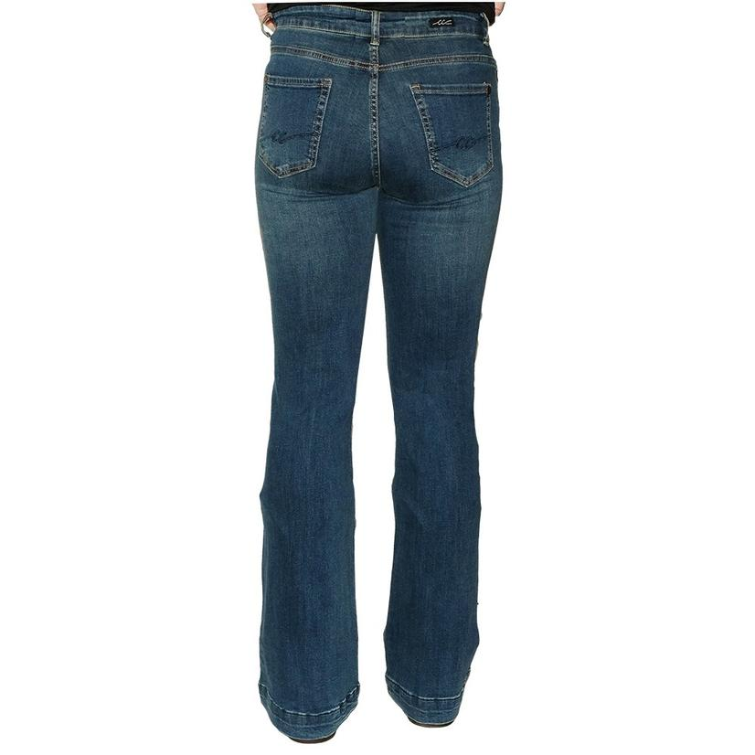 Cowgirl Couture Signature Series Dark Wash Women's Trouser Jeans