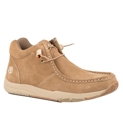 Roper Tan Suede Leather Men's Chukka Shoes